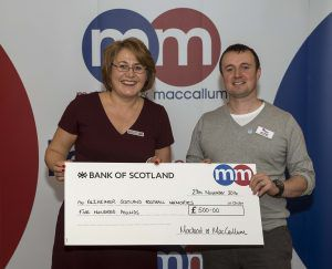 Macleod and MacCallum Community Grant Awards PIC...TREVOR MARTIN