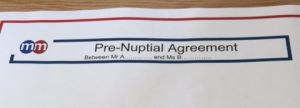 Pre nuptial agreement 1